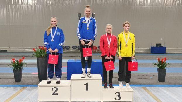 Vasakult: Outi Jaakkola FIN, Karoliine Loit EST, Karoliina Komissarova EST, Sofia Hansson SWE