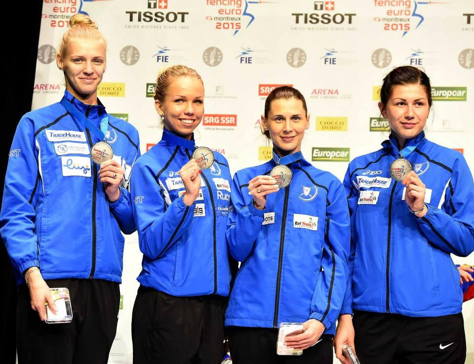 Eesti epeenaiskond: Katrina Lehis, Erika Kirpu, Irina Embrich, Julia Beljajeva. Foto: Augusto Bizzi