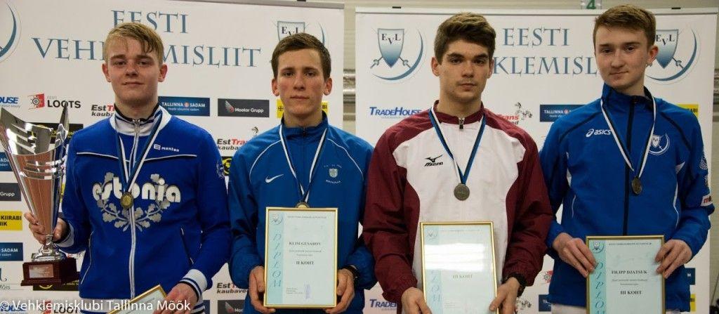 Vasakult: Ruslan Eskov, Klim Gusarov, Ernests Cimborevich, Filipp Djatšuk