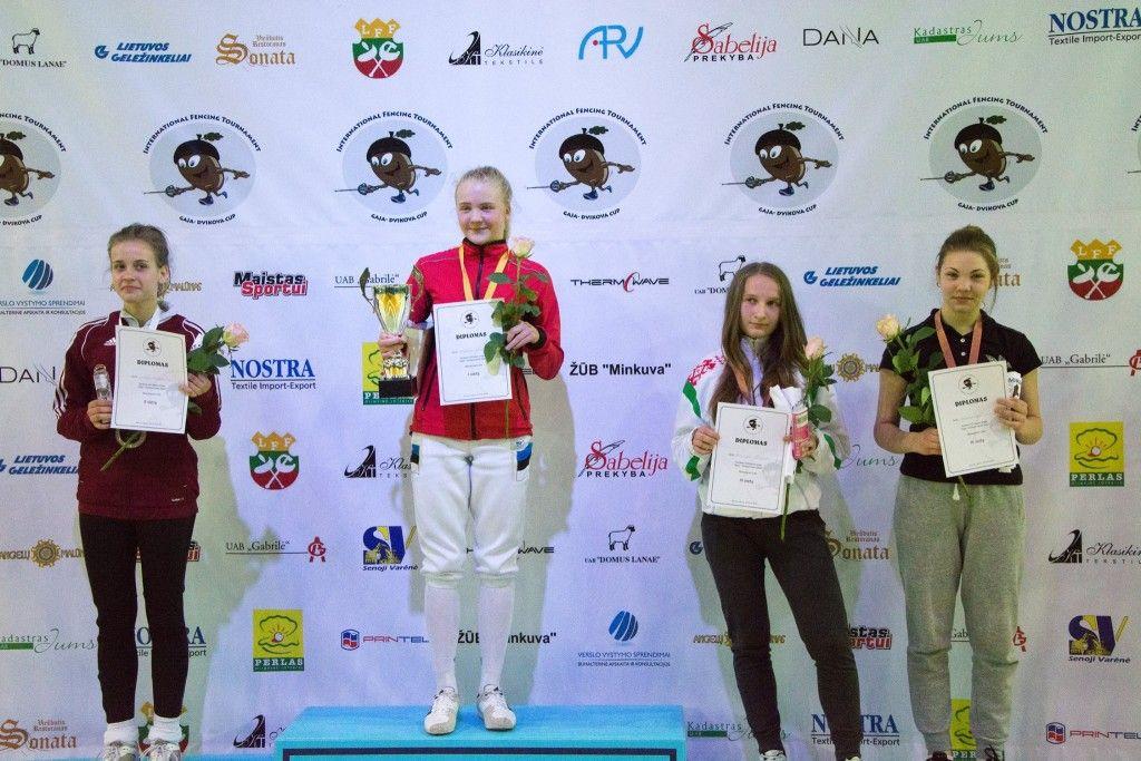 Vasakult: Nellija Mihejeva LAT, Karoliina Komissarova EST, Katsiary Dziakevich BLR. Foto: Maarja Linnamägi