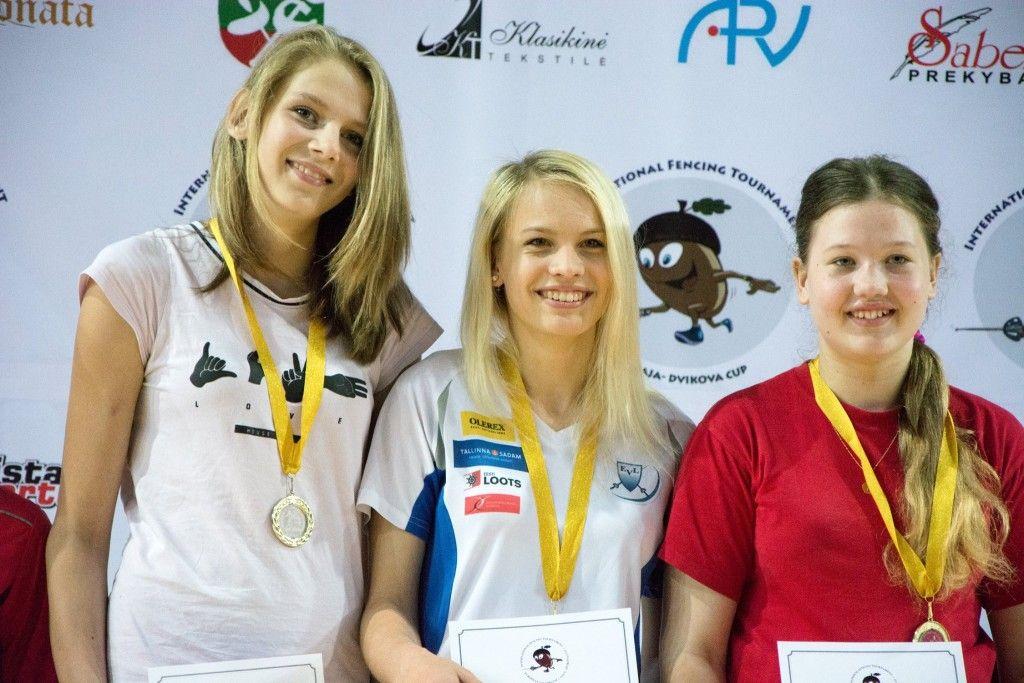 Tartu Kalev: Carolina Goidin, Anastassia Pogorelova, Elisabeth Ostrovski. Foto: Maarja Linnamägi